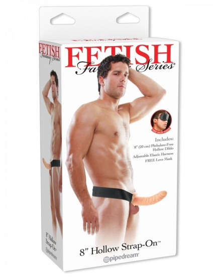 "Dutý připínací penis Hollow Strap-On 8"", 20 cm - Fetish Fantasy"