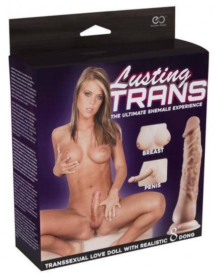 Nafukovací panna Lusting TRANS - 2 otvory + penis