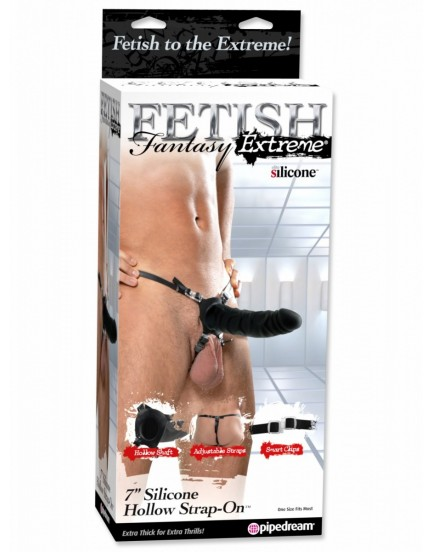 "Dutý silikonový strapon Fetish Fantasy Extreme 7"" (18,5 cm) - Pipedream"