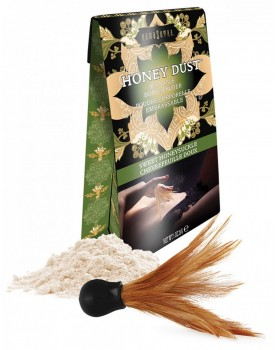 Slíbatelný tělový pudr KamaSutra Honey Dust Sweet Honeysuckle - 28 g