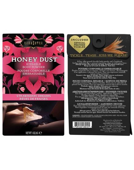 Slíbatelný tělový pudr KamaSutra Honey Dust Strawberry Dreams - 28 g