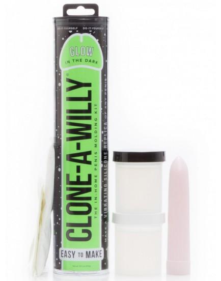 Clone-A-Willy Glow in the Dark Green (vibrátor) - sada pro odlitek penisu