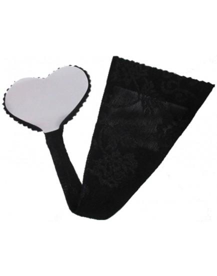 Samodržící neviditelná tanga Adhesive String - Cottelli Collection (černá)