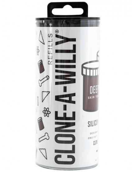 Náhradní silikon pro Clone-A-Willy - čokoládový (tmavě hnědý)