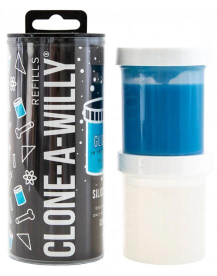 Náhradní silikon pro Clone-A-Willy - modrý (svítící ve tmě)