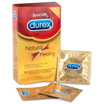 Kondomy bez latexu Natural Feeling, 16 ks - Durex