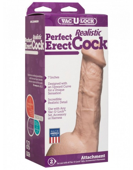 Realistické dildo s varlaty Perfect Erect - Doc Johnson
