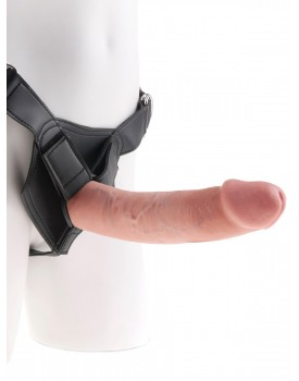 "Realistické dildo King Cock 9"" s postrojem Heavy-Duty - Pipedream"
