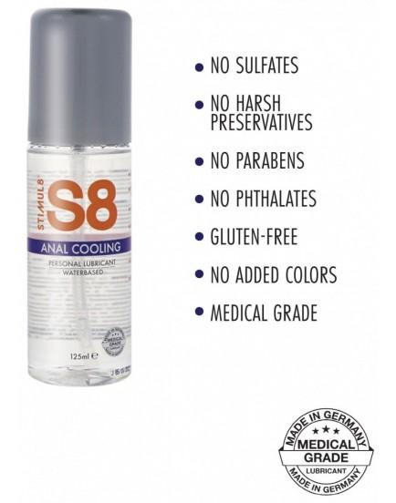 Chladivý anální lubrikant S8 Anal Cooling, 125 ml