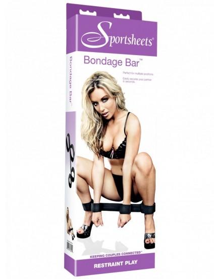 Netradiční roztahovací tyč s pouty na ruce a nohy - Sportsheets