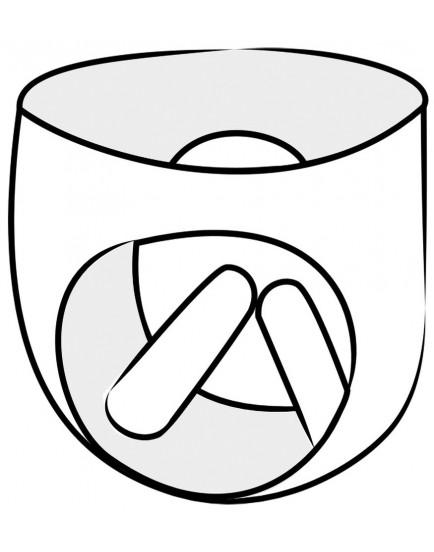 Dámské latexové legíny se dvěma vnitřními kapsami - LateX