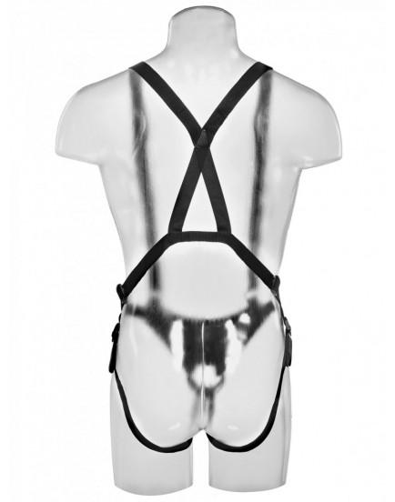 "Dutý připínák 12"" Hollow Strap-On Suspender System - King Cock"