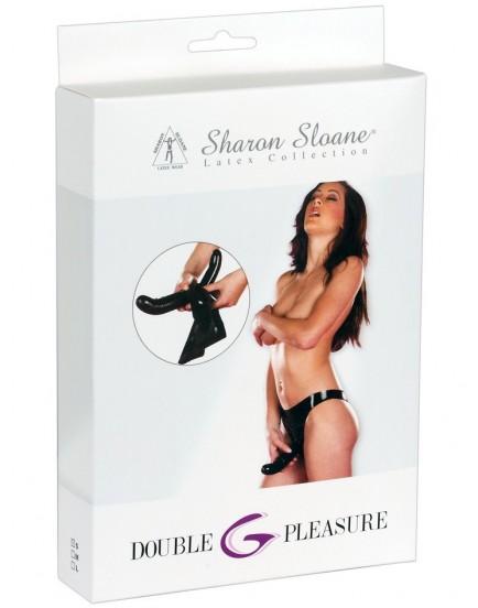 Latexové kalhotky s dildem na bod G a vnějším dildem Sharon Sloane