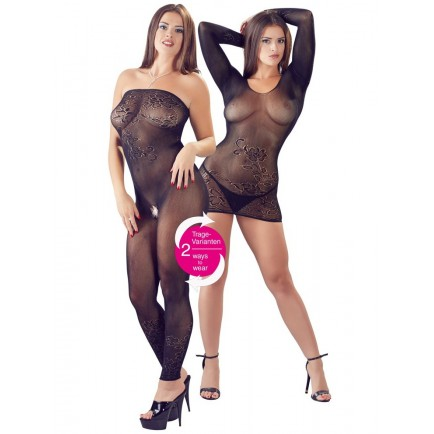 Průsvitné minišaty a catsuit v jednom - Cottelli Collection