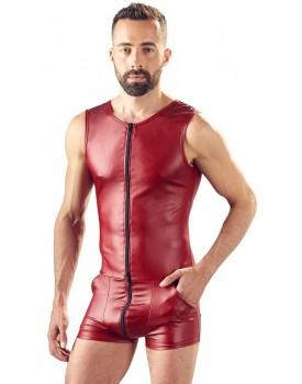 Tmavě červený lesklý overal pro muže - Svenjoyment