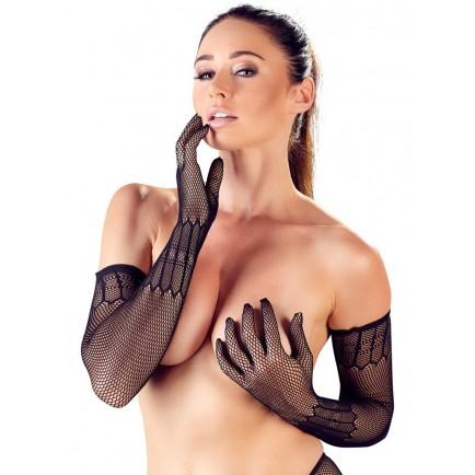 Dlouhé síťované rukavice se vzorem - Cottelli Collection
