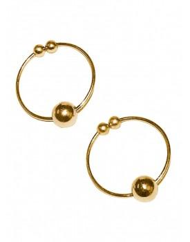 Kroužky na bradavky - falešný piercing (zlatý)