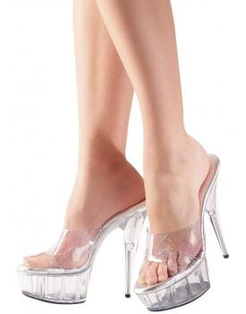 Pantofle na vysokém podpatku a platformě - Cottelli Collection