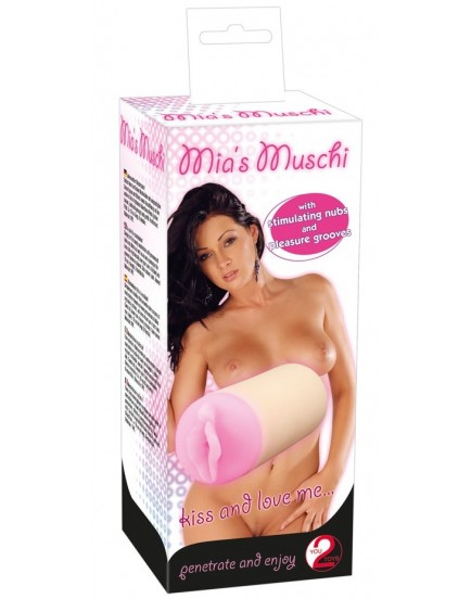 Oboustranný masturbátor Mia's Muschi (vagina + anální otvor)