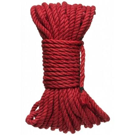 Červené konopné lano na bondage Hogtied Bind & Tie 50 ft - 15 m