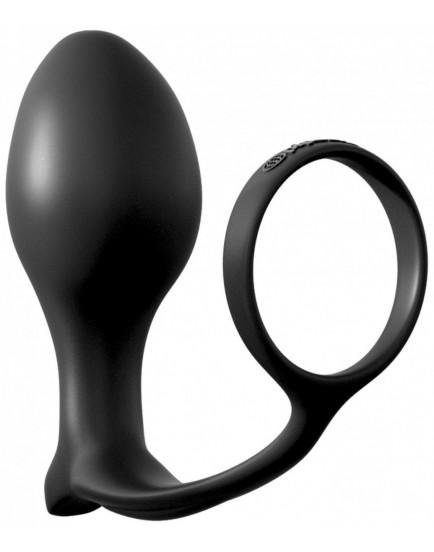 Anální kolík s kroužkem na penis Ass-Gasm Large Plug - Anal Fantasy