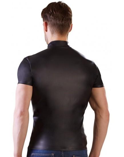 Wetlook pánské tričko s krátkým rukávem a zipem NEK