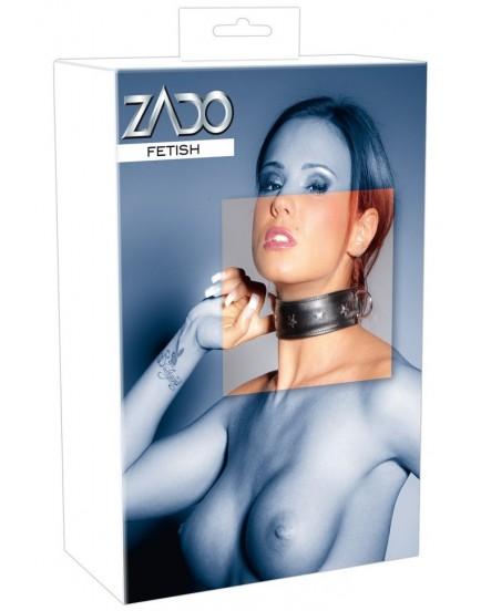 Kožený obojek s ozdobnými kovovými detaily - ZADO