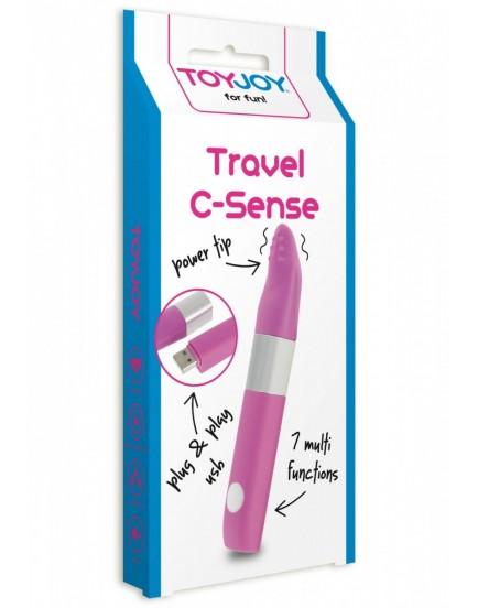 Malý vibrátor na klitoris Travel C-Sense (nabíjecí)