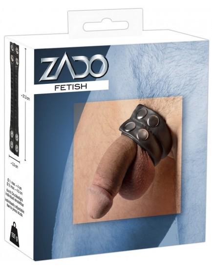 Těžký erekční kroužek z kůže - ZADO