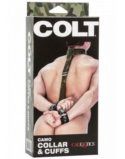 Maskáčový postroj s obojkem a pouty COLT Camo