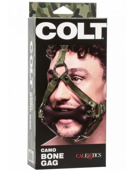 Silikonový roubík s postrojem na hlavu COLT Camo