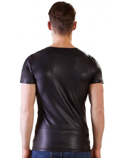 Pánské triko s průsvitnými vsadkami a kovovými kroužky - NEK