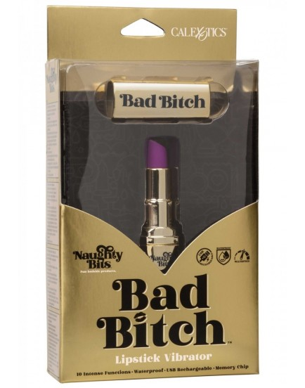 Diskrétní mini vibrátor Bad Bitch Lipstick - Naughty Bits