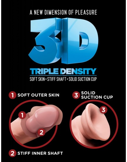 "Realistické dildo s varlaty Triple Density 5"" - King Cock Plus"