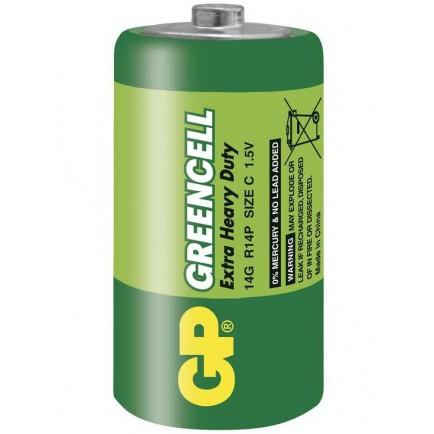 Baterie C, R14 GP Greencell (zinkochloridová)
