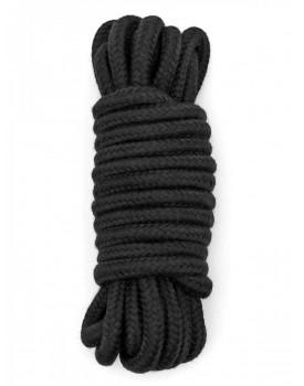 Černé bavlněné lano na bondage (4,8 m)