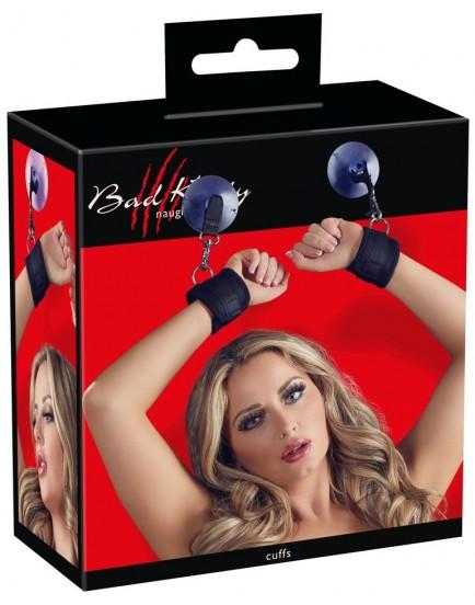 Erotická pouta na ruce s přísavkou - Bad Kitty