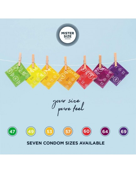 Kondomy MISTER SIZE 60 mm (36 ks)