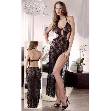 Dlouhé krajkové šaty Mandy Mystery