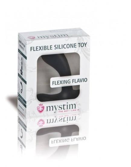 Dildo na masáž prostaty a elektrosex Flexing Flavio