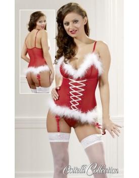 Vánoční korzet s kožíškem