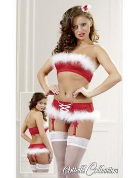 Set vánočního prádla Cottelli (podprsenka a kalhotky)