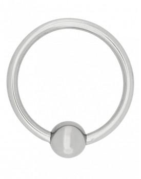 Erekční kovový kroužek s dráždící kuličkou