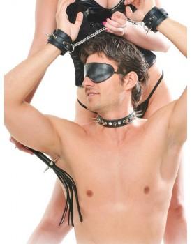 Kožená BDSM sada Rock Hard (s ostrými ostny)